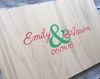 Guest Book Alternative Wood, Unique Guestbook Idea with Matching Pen