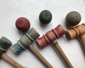 Vintage European Croquet Set from 1940's