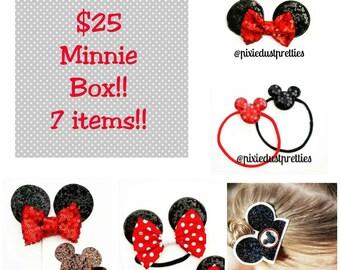 Minnie Bundle,  minnie mouse, minnie, mouse,  ear bow, ears