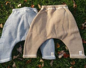 "Organic Merino Wool Baby Pants ""Aladdin"""
