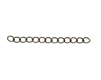 10 extension chains color antique bronze 50 mm