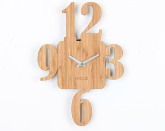Bamboo Unique Wall Clock - 3-6-9