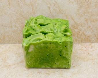 Handmade Soap Palm Free Soap Organic Soap Avocado Melon Gift Soap Wedding Soap