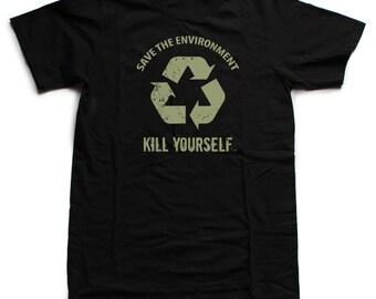 Save the Environment, KYS - LTD Black - Unisex Shirt (Black Label) [III]- by Denis Caron (L.A.W.L.S.)  - Corvink