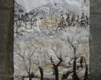 Winter, little picture and painting, single piece
