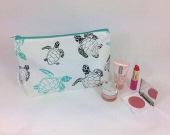 Turtle makeup bag