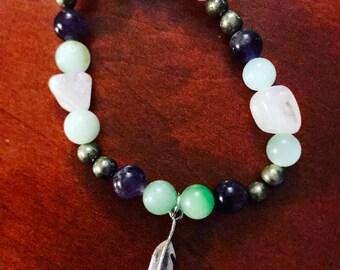 Feather Crystal Bracelet