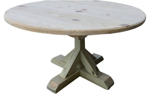 Diy round trestle table for Diy trestle dining table