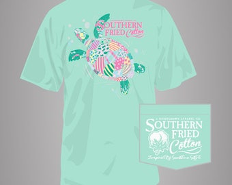 Myrtle the Turtle - Adult Pocket T-Shirt - Southern Fried Cotton