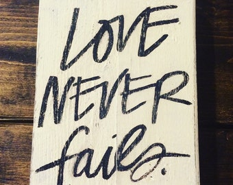 Love never fails block
