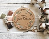 Floral Quote Embroidery // I Saw. I Came. I made It Awkward Embroidery // Floral Wreath Embroidery // Christmas Gift // Quote Embroidery //