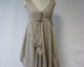 Sale. Exceptional amazing natural linen dress, M size. Very fashion romantic style.