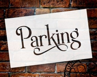 Wedding Sign Stencil - Parking - Elegant Traditional - Select Size- STCL1664 - by StudioR12