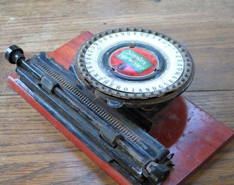 RESERVED for Nina Antique Simplex Typewriter Special No.1 1912 in Original Box