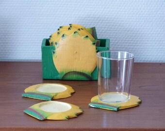Pineapple coasters - Garden party -