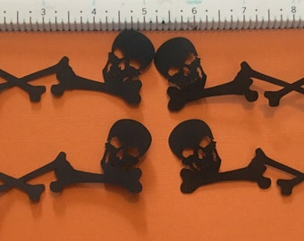Cricut halloween die cut 4 black skull skeleton boarder die cuts