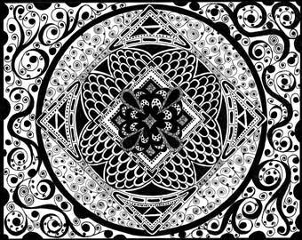 Zentangle Colouring Pages, Five Devilish Patterns