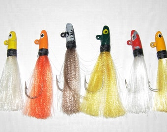 Vintage Fishing Lures, Painted Metal,  Seven Lures