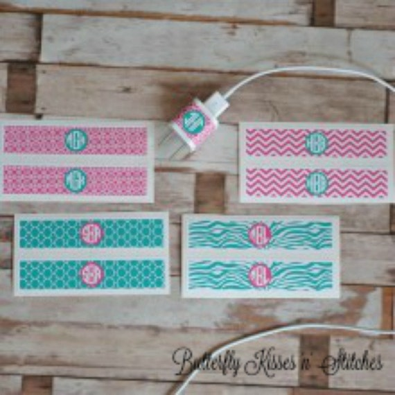 iphone Charger Wrap/Personalized/Monogrammed