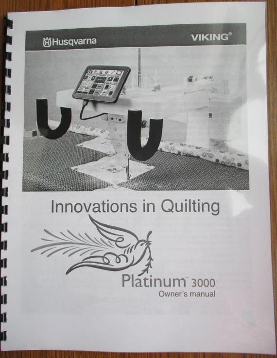 Husqvarna Viking Platinum 3000 Long Arm Quilting Machine Users : husqvarna longarm quilting machine - Adamdwight.com