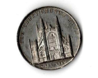 Mid-1800s Abbey Church, Bath Medal