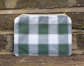 Two tone pouch bag - Forest check