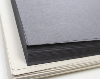 Recycled A2 Black and White Sugar Paper Pack 100gsm Zebra Colour Craft Paper Value Pack Stock 250 Sheets