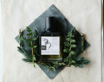 Natural Perfume. MODERN WITCH: Forest Natural Perfume Oil. Woodland, Lavender, Pine, Earth, Musk, Tea