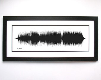 My Wish - Art Print - Country Music/Song Art - Gift Idea, lyric art print and design, sound wave gift
