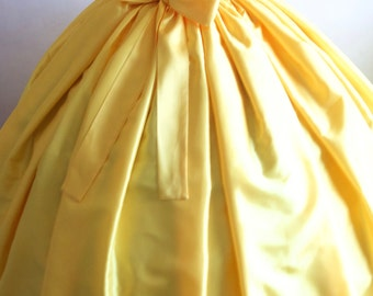 Ladies Skirt, Adult Women's Taffeta skirt / yellow skirt / floor length, made to measure