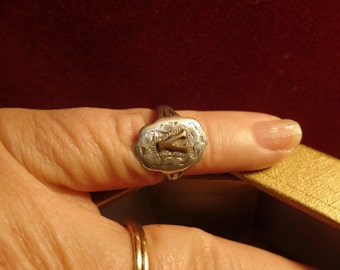 Sterling Silver Ring size 5  marked sterling