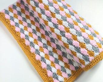 Crochet Shell Stitch Blanket