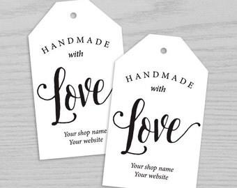 Handmade with Love Gift Tag Tag, Gift Tags, Gift Tag, Made with love tag, Party Favor Tag, Wedding Favor Tag Digital Printable TAG004