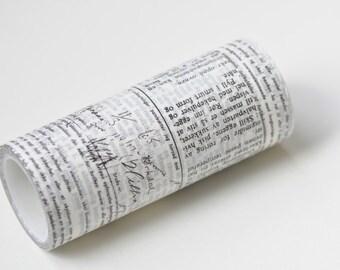 "3.9"" (100mm) Width Retro Washi Tape Newspaper Washi Tape 5.5 yards Decorative Tape No.12049"