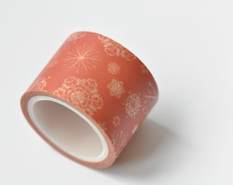 Snowflake Washi Tape/  Wide Japanese Masking Tape 30mm wide x 5m long (approx. 1.2 inch wide x 5.5 yards long) No. 12061