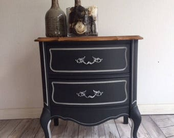 Painted Nightstand/French provincial Nightstand/Antique Nightstand