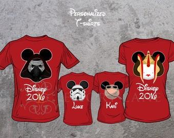 Star Wars Inspired Custom T-shirts, Kylo Ren, Rey, Stormtrooper or Queen Amidala, Disney Vacation,  Family Matching Shirts