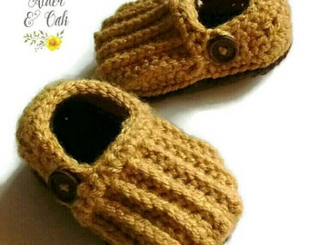Baby Loafers (Baby booties)(Baby slip-ons)(Baby slippers)(Baby boy booties)