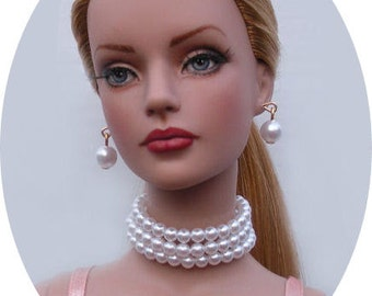 Mood For Music Pearl Jewelry Set Made For Sydney Chase, Tyler Wentworth, Ellowyne Wilde And Other Same Size Dolls