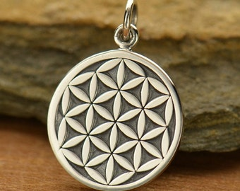 Sterling Silver Flower of Life Charm