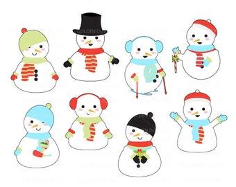 Snowman clip art   Etsy