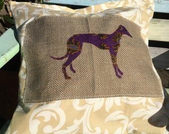 Greyhound Themed Cushion Cover