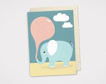 Balloon - Birthday Greeting Card