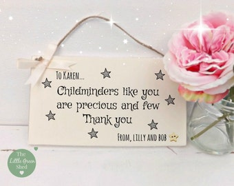 Childminder plaque sign Thank You Gift Personalised Keepsake