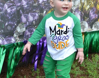 Toddler Mardi Gras Shirt - Mardi Gras Shirt for Boy - Mardi Gras Shirt - Green Mardi Gras Shirt - Mardi Gras - New Orleans - Fat Tuesday