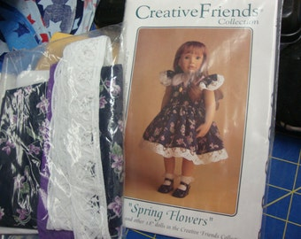 "Spring flowers 18"" doll dress"
