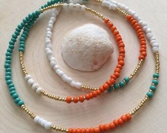 Tropical Sunset Waist Beads