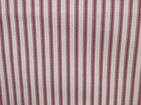 Ticking Crimson Fabric By The Yard