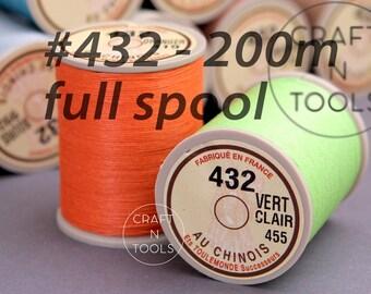 "Sajou Fil au Chinois ""Lin Cable"" Waxed Linen Thread Full Spool #432 (0.63mm)/Saddlery Thread/Corded Thread/Thread for Leather"