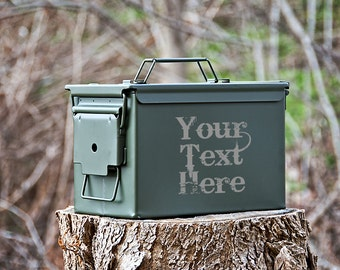 Personalized Ammo Can, Metal Ammunition Box, Gifts for Him, Groomsmen Gifts
